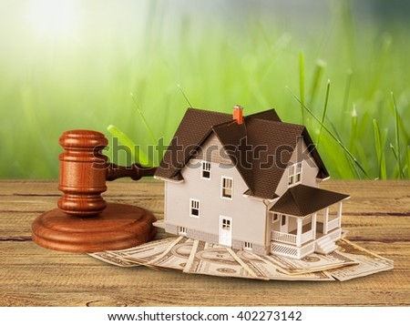 Home being sold. - stock photo