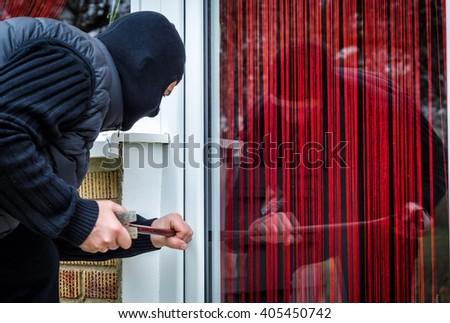 Home burglary - stock photo