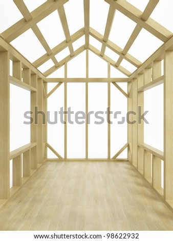 Home Construction, isolated 3d render - stock photo