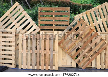 Home decoration by wooden pallets. - stock photo