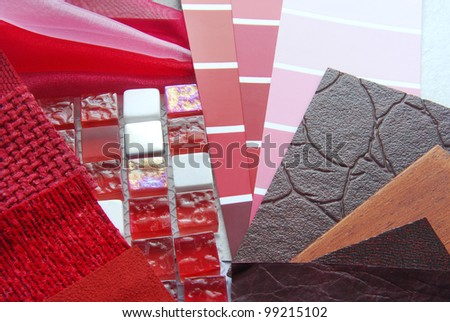 home decoration planning - stock photo