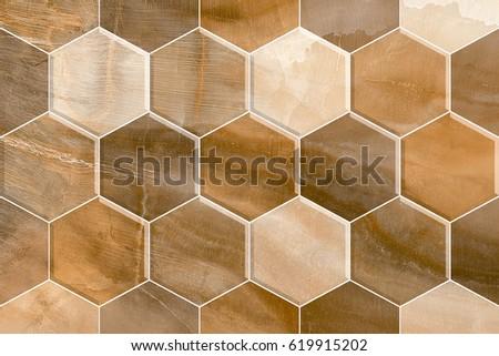 home decorative hexagon wooden wall tiles design background