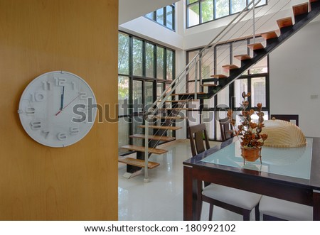 Home dining room interior design for modern life style. - stock photo