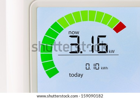 Home energy usage meter - stock photo