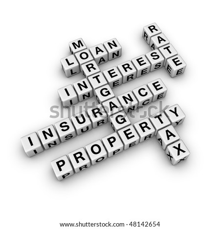 home finance (from crossword series) - stock photo