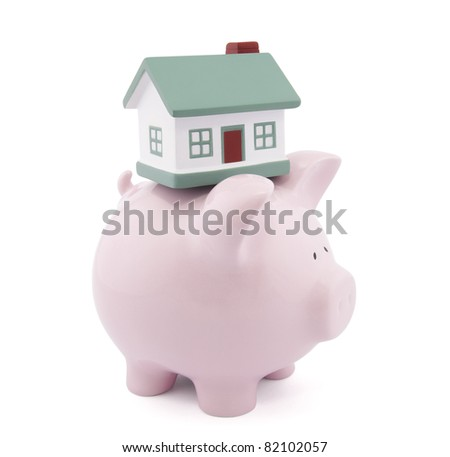 Home finances. Clipping path included - stock photo