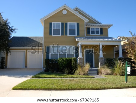 home for sale at st augustine beach florida - stock photo