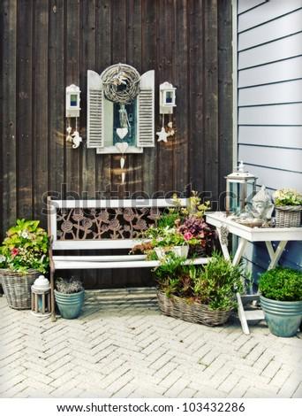 home garden - stock photo