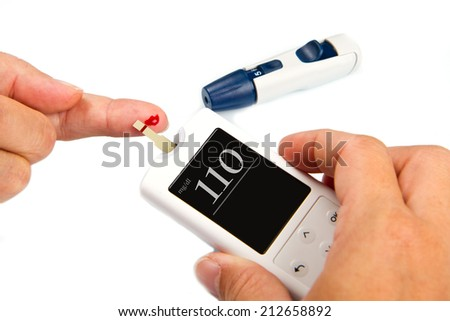 Home glucose meter  - stock photo