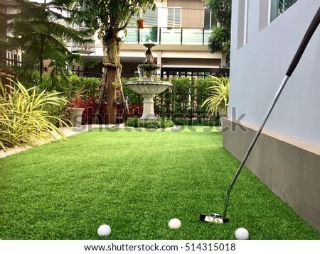 Home Golf Course Architecture Design Grass Stock Photo 514315018 ...