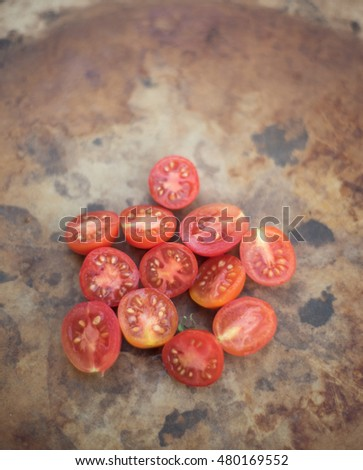 Home grown Matt's Wild Cherry Tomatoes are part of the species Lycopersicum esculentum.  Originally from Maine this species is very popular for garden growing in the summertime.