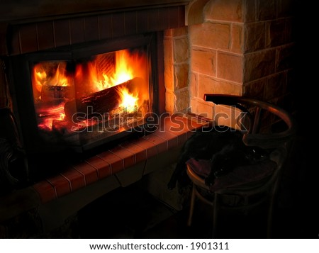 home heat - stock photo