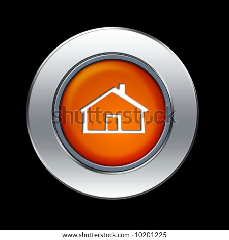 Home icon - stock photo