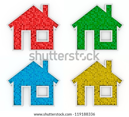 Home Icons - stock photo