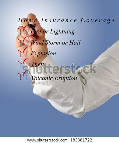 Home insurance coverage - stock photo