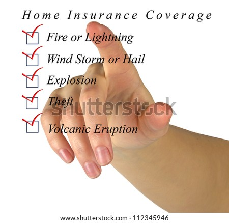 Home insurance list - stock photo