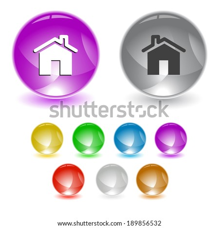 Home. interface element. - stock photo