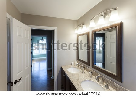 Home Interior Bathroom - stock photo