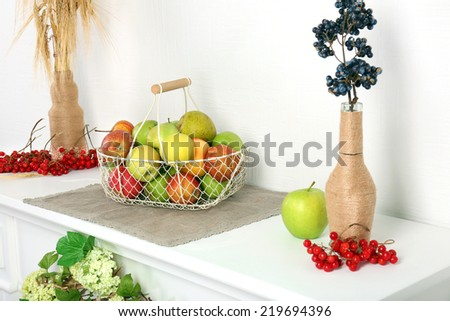 Home interior decoration on white table - stock photo