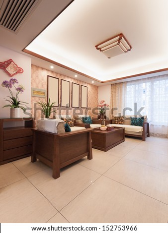 home interior decoration with chinese style