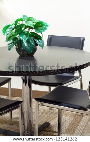 Home interior design in dining room - stock photo