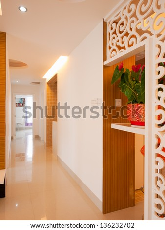 home interior with modern decoration