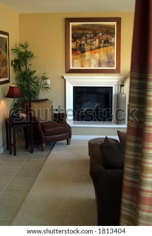 Home living room interior. - stock photo