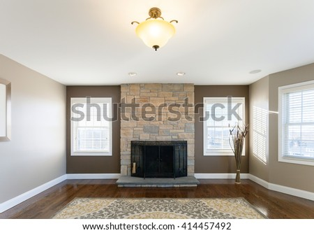 Home Living Room Interior - stock photo