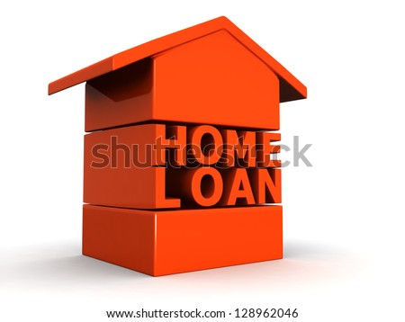 Home Loan concept 3d illustration - stock photo
