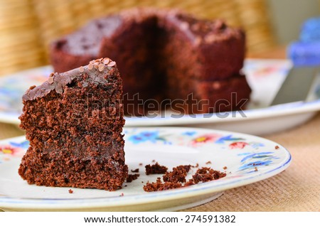 Home made chocolate cake - stock photo