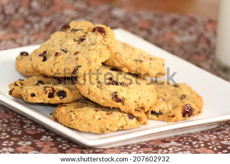 Home Made Cranberry Cookies