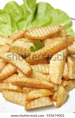 home made french fries