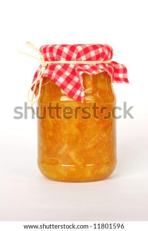 Home made orange marmalade - stock photo