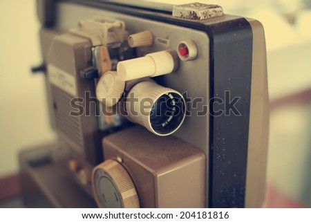 Home movie projector  - stock photo