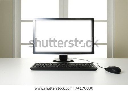 Home office abstract - stock photo