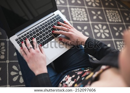 Home office, remote work - stock photo