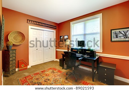 Home office room design interior. - stock photo