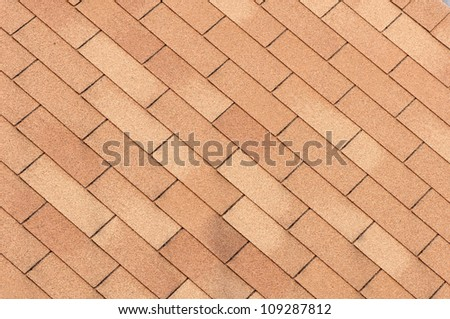 Home roof texture close-up