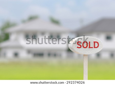 Home sold - stock photo