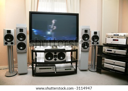 home theater 5 - stock photo