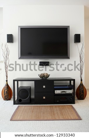 Home theater in living room - stock photo