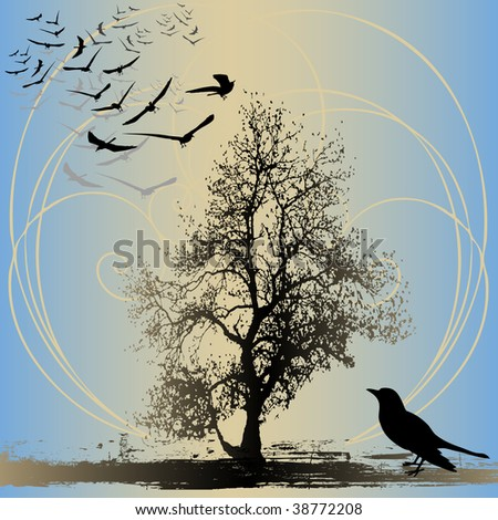 Home To Roost Bitmap Background - stock photo