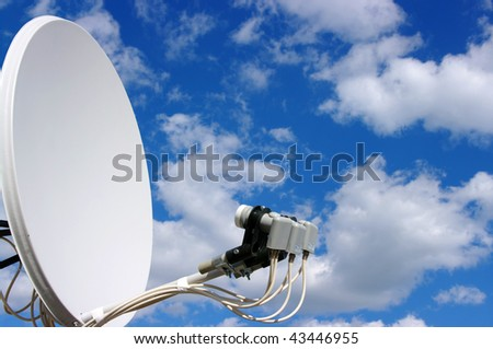 Home TV antenna on sky