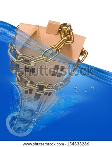 Home Underwater. - stock photo