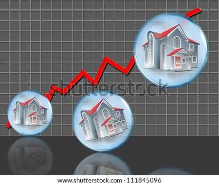 Home Values Going Up. - stock photo