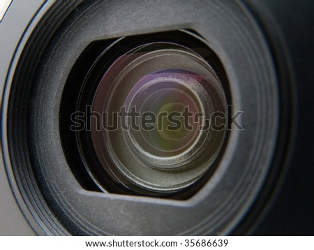 Home video or photography equipment camera lens