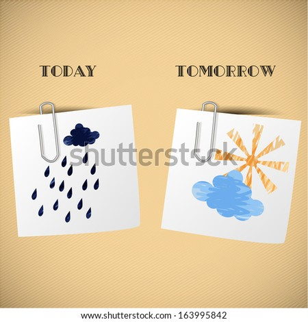 Home weather forecast for stickers - stock photo