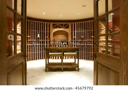 Home Wine Cellar Room - stock photo