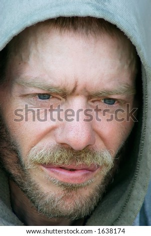 Homeless and Friendless - stock photo