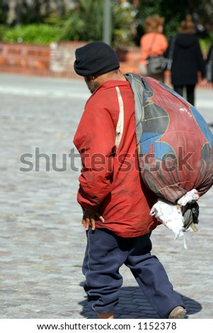 Homeless man - stock photo